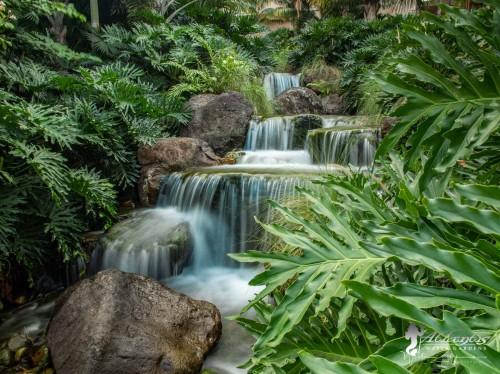 beautiful pondless waterfall