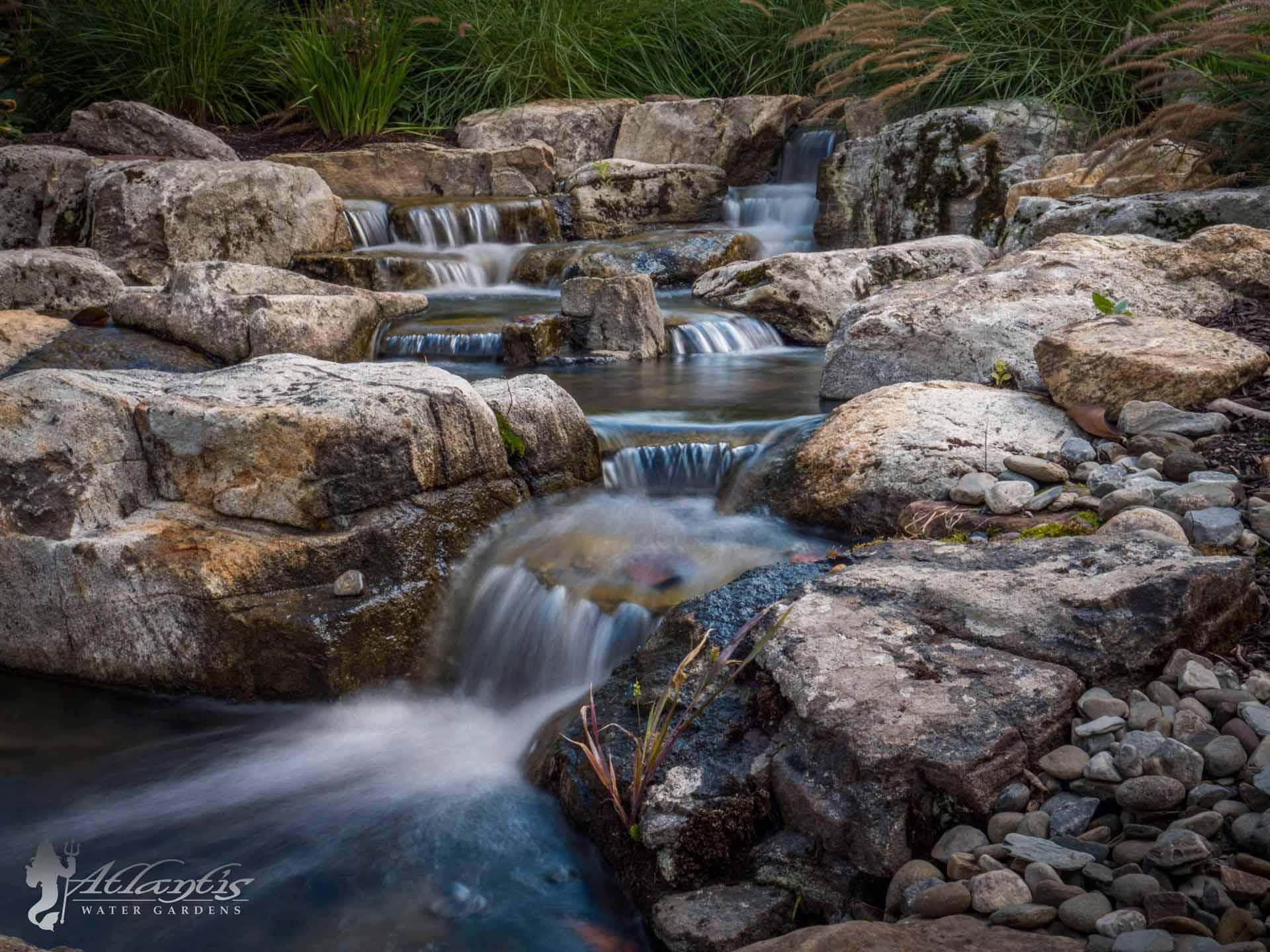 Pondless Waterfall by Atlantis Water Gardens Denville NJ
